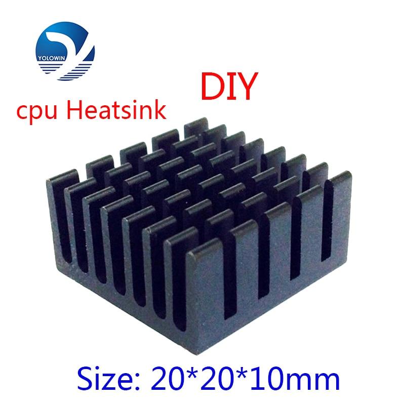 5 Unids DIY Mini 20 * 20 * 10mm Disipador de Calor de Aluminio Radiador Disipador de Calor Extruido Perfil Disipador de Calor Para Disipación de Calor Electrónica YL-0011