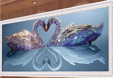 5D DIY Diamant Malerei Kits Runde Strass Draw diamantstickerei Tiere Schwan Kreuzstich Kit Mosaik Bild blume Schwäne