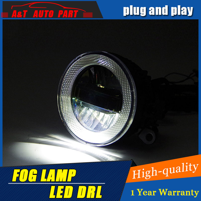 JGRT Car Styling Angel Eye Fog Lamp for Mondeo LED DRL Daytime Running Light High Low Beam Fog Light Automobile Accessories