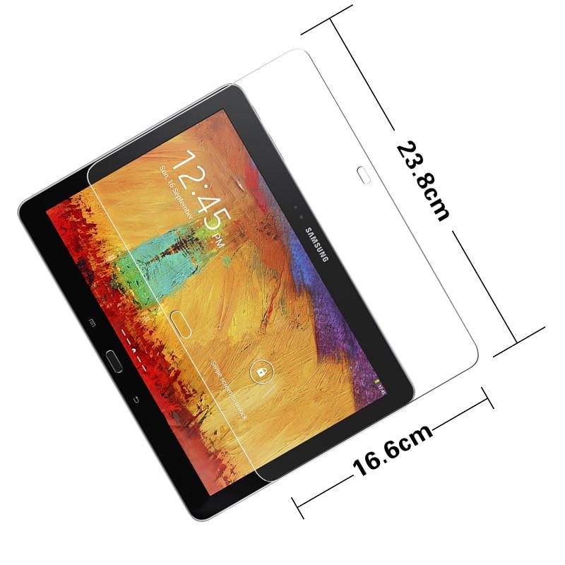 """""""Premium"""" grūdinto stiklo plėvelė """"Samsung Galaxy Note 10.1 2014"""" leidimui P600 M16C planšetinis kompiuteris """"Anti-shatter"""" LCD ekrano apsauginė plėvelė"""
