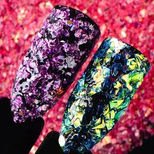 T-TIAO CLUB 1 Box Holo Nail Sequins Powder Gradient Flake Glitter Manicure Art Paillettes Decoration Tips