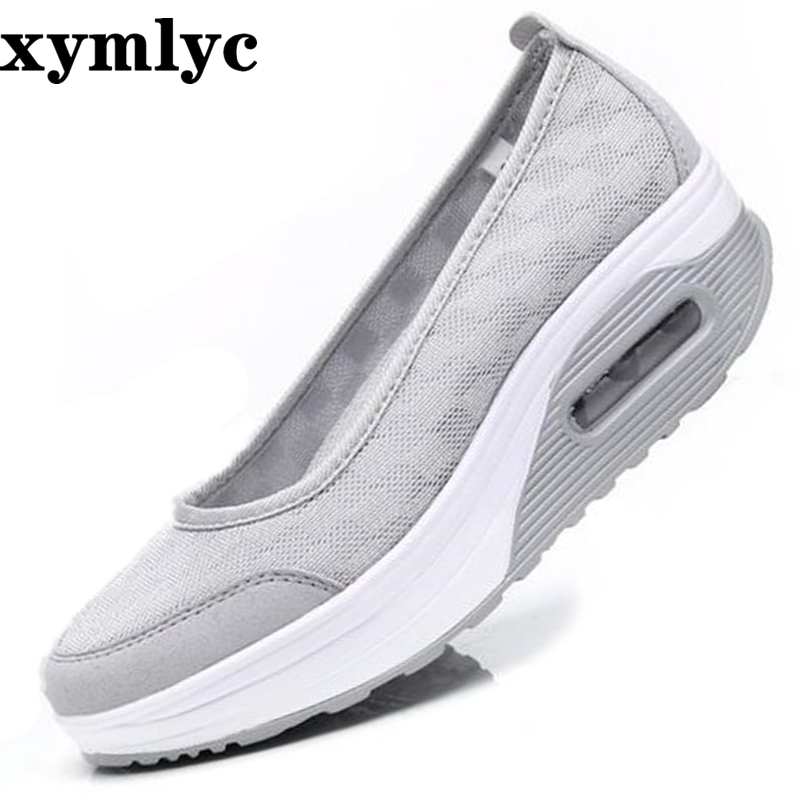 Platform Women Vulcanize Shoes Moccasins Slip on Comfortable Ladies Female Footwear Autumn Sneakers Women Casual Shoes(China)