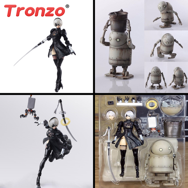 Tronzo Action Figure 15cm 2B Nier Automata Figure PVC YoRHa No. 2 Type B Mechanical Life Joint Movable Collectible Model Toy