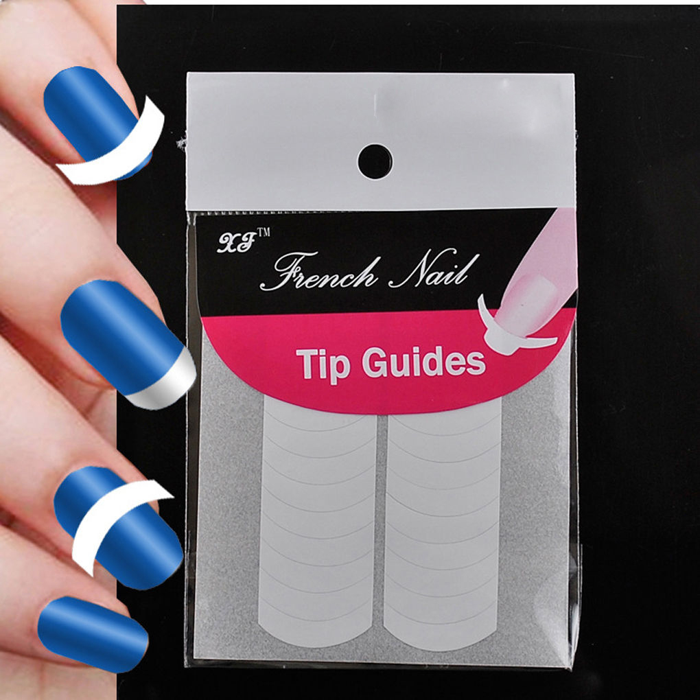 1lot= 2 Sheets Manicure Tool Large Smile Line Nail Art Tips Form ...