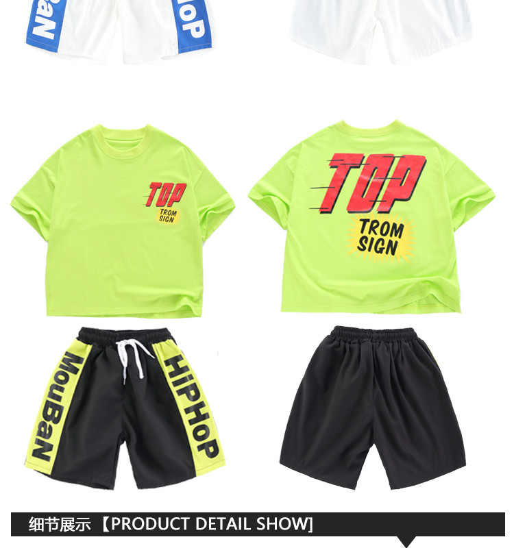 Kid clothes girl Boy set Summer 2019 4 6 8 10 12 14 Years Hip Hop T shirt Pants dance costumes kids boys Girls young clothes (14)
