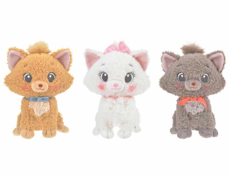 Os aristocats bonito marie cat toulouse berlioz branco cinza gatos brinquedo de pelúcia macio animais de pelúcia 20 cm 8 8 gift bebê meninas crianças brinquedos presente