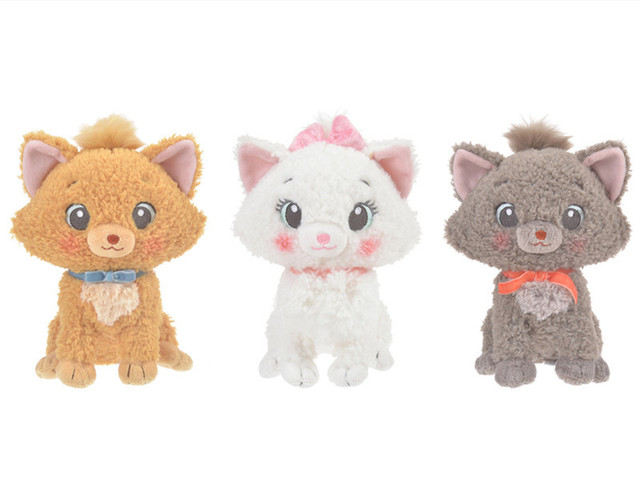 The Aristocats Cute Marie Cat Toulouse Berlioz White Grey Cats Plush