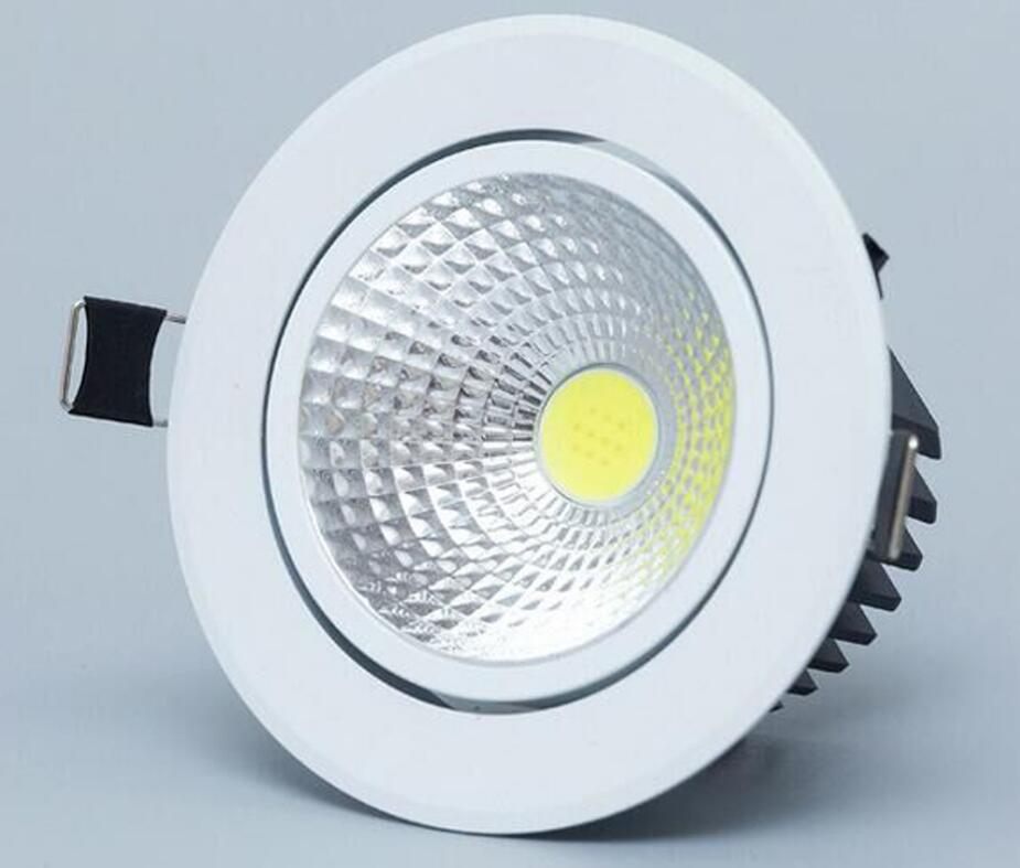 1pcs 9w 12w 15w round Recessed cob led ceiling lamp Dimmable 220v 110v Warm /Natur/Cold White Epistar Led downlights Spot light free shipping cob 15w dimmable ar111 gu10 g53 warm white natural white cold white ar111 cob led spot lamp for home light