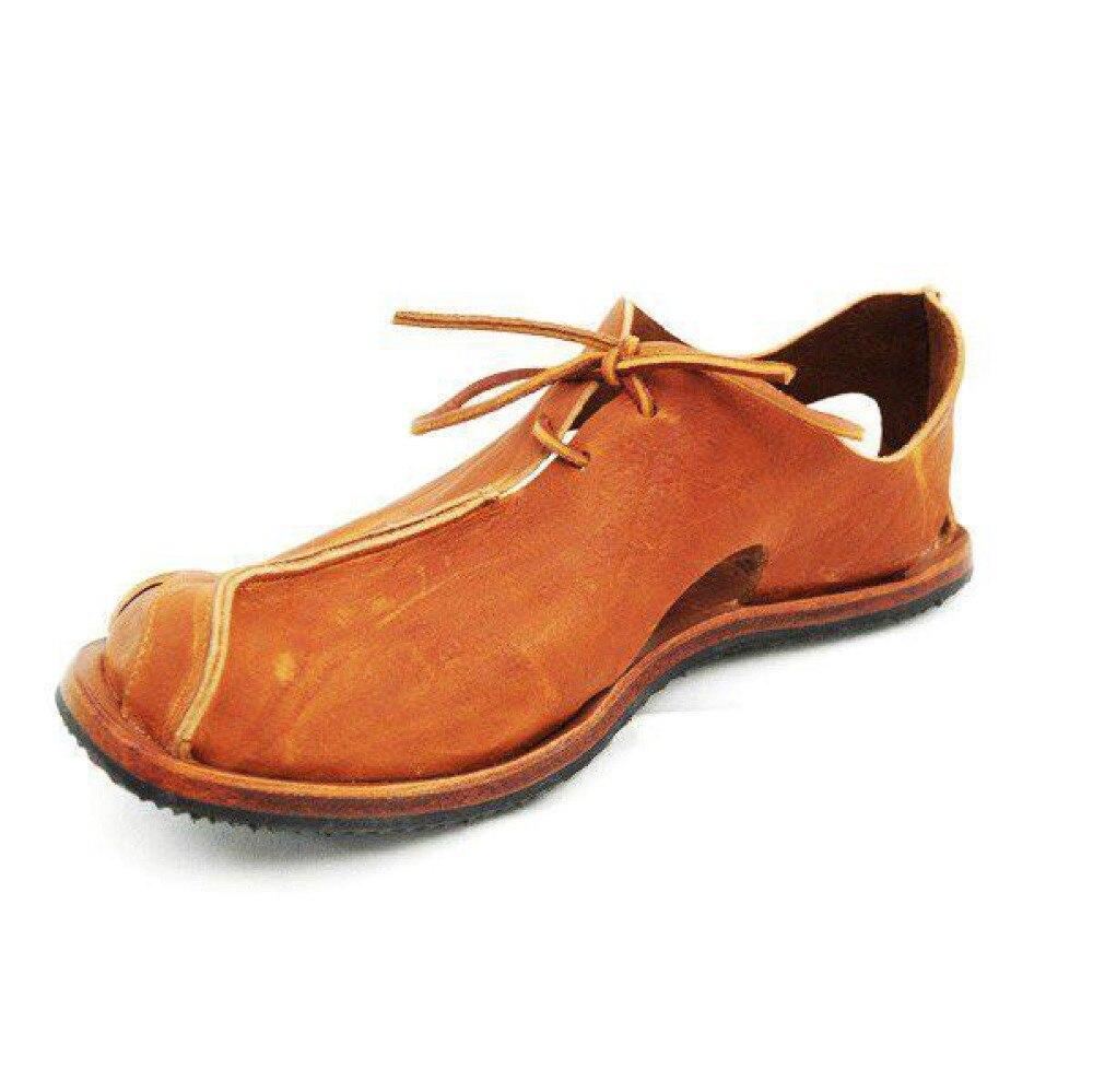 Nuevas sandalias de cuero genuino de vaca para exteriores, zapatos de verano 2019 para hombre, zapatos informales transpirables, calzado para caminar, sandalias de playa, talla 49 VIISENANTIN, oferta, sexy, rojo, negro, Cuero brillante, sandalias de verano para mujer, cristal de piedras preciosas, sandalias de tacón grueso, correa de tobillo