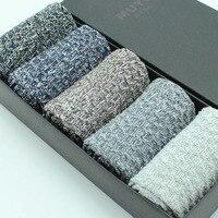 Male Socks Knee High Cotton Autumn And Winter Yarn Socks National Trend Men Socks Vintage Socks