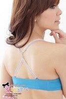 япония мода Пауэлл Mile уплотнение перед krusty конвертировать цвет полосы плацебо ремень крест бюстгальтер и нижнее белье комплект 2082