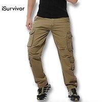2016 New Men Plus Size Pants Cargo Pants Trousers Men S Casual Fashion Slim Fit Large