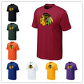 Дешевые Чикаго Блэкхокс Футболки Большие & Tall Логотип Мода Блэкхокс Тис Рубашка С Коротким Рукавом Хлопок Футболки 14 Цвета