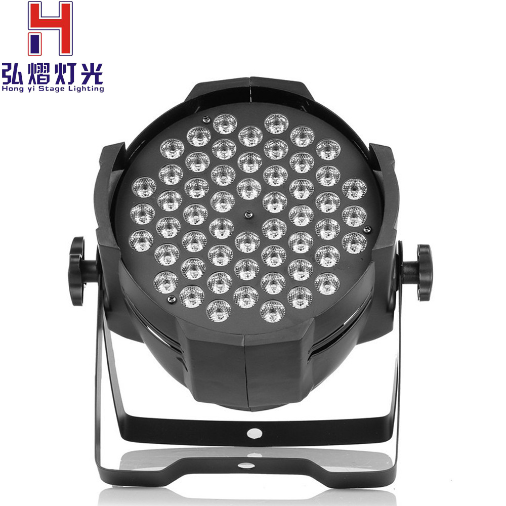 New Professional LED Stage Lights 54X3W RGB PAR LED DMX Stage Lighting Effect DMX512 Master-Slave Led Flat for DJ Disco Party KT premium led stage lights 18w rgb led flat par light stage lamp dmx512 disco dj bar effect up lighting for dj disco party ktv