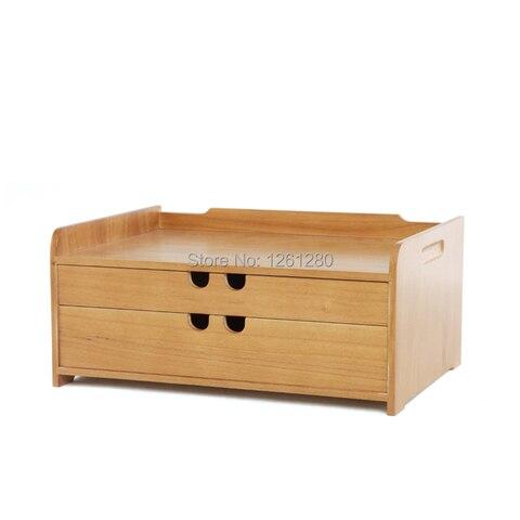 Caixa de Gaveta de Armazenamento de Detritos Caixa de Armazenamento de Cosméticos de Mesa de Madeira o Envio Gratuito de Ferramenta de Gabinete Escritório Jóias Presente Criativo Casa a4 Bin