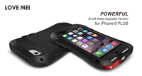 LOVE MEI Aluminum Powerful Small Waist Version Case For Apple iPhone 6 plus Armor Shockproof Waterproof Outdoor Cases Bags