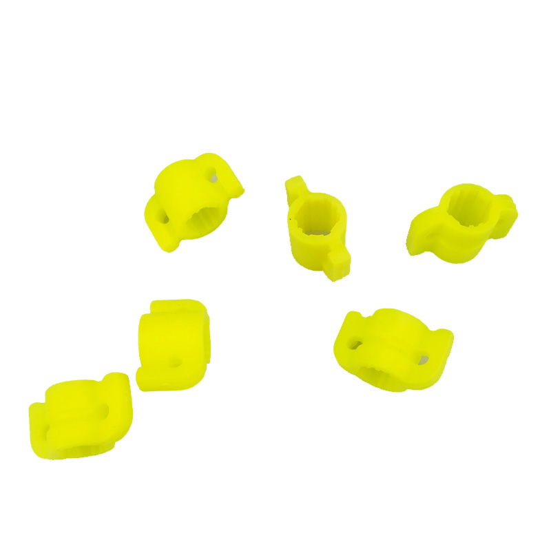 10pcs//set Yellow Plastic Bow Fishing Arrow Safety Slides for 8mm Arrow Shaft