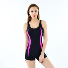 Boxer Shorts Swimwear Women Body Building Competition One Piece Bathing Suits Black Swimming Wear Sports Beachwear