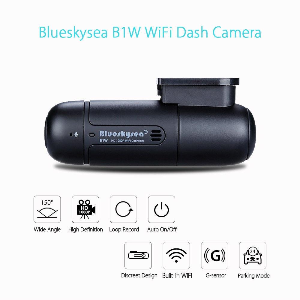 Blueskysea DVR Camera G-Sensor Wifi B1W IMX323 Mini 360-Degree Rotate-Capacitor H.264