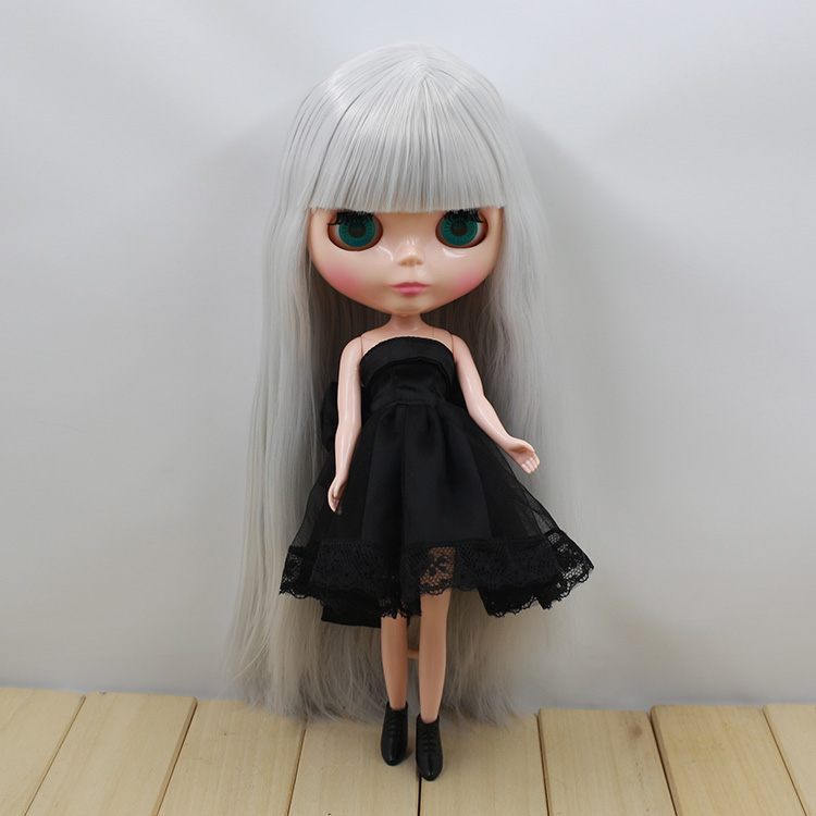 Neo Nude Blyth dolls for girls Gray long hair with bangs doll for sale doll blyth yellow short hair with bangs nude blyth doll diy toys baby blyth dolls for sale
