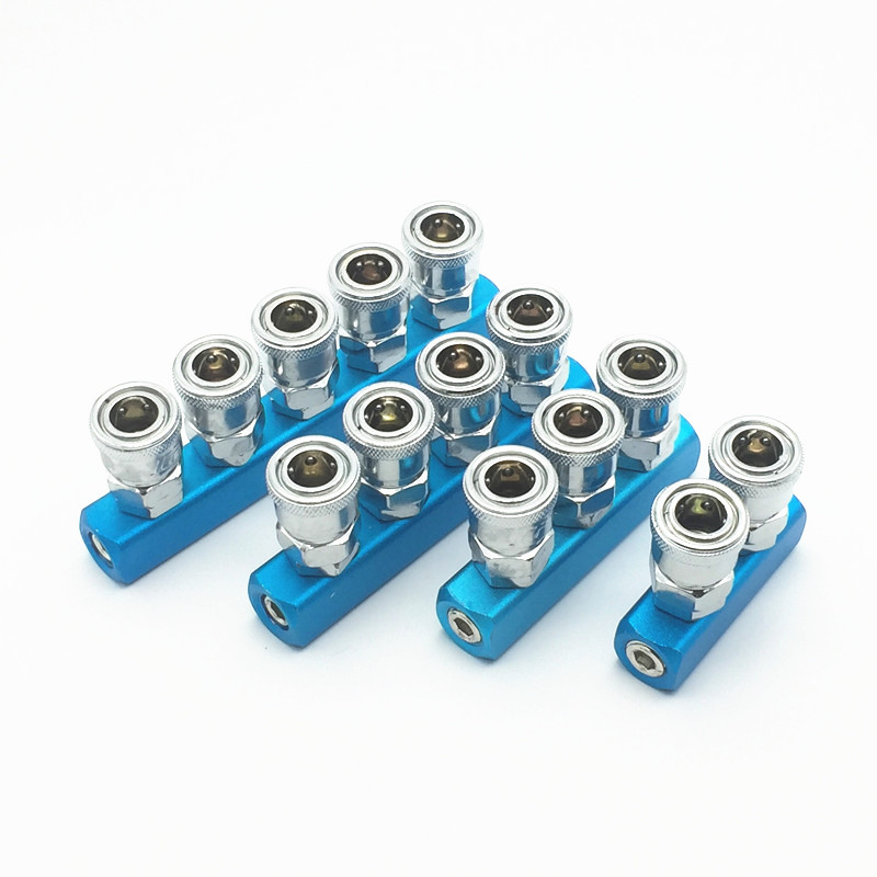 "SML Pneumatic fittings 1/4"" C type Quick connector High pressure coupling Air pump air compressor joint"