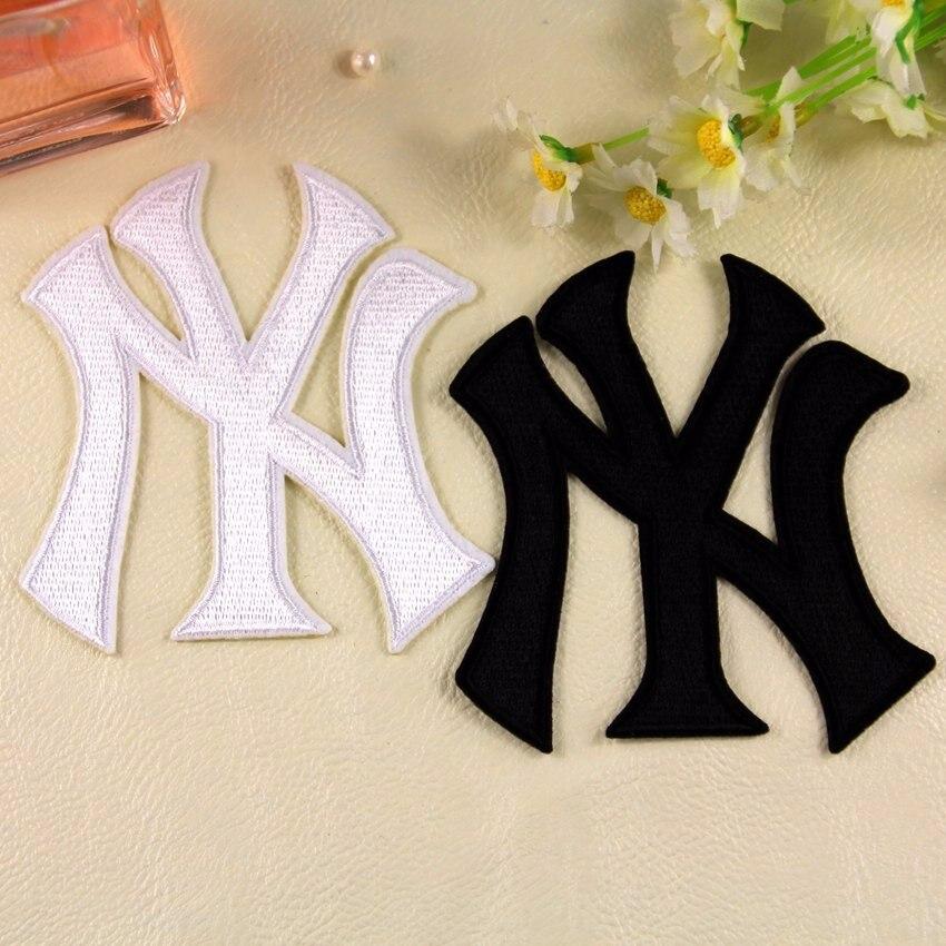 (10 Pcs/lot) Classic Baseball Style NY Logo Cloth Stickers Sew-on Iron-on Badge Free Shipping