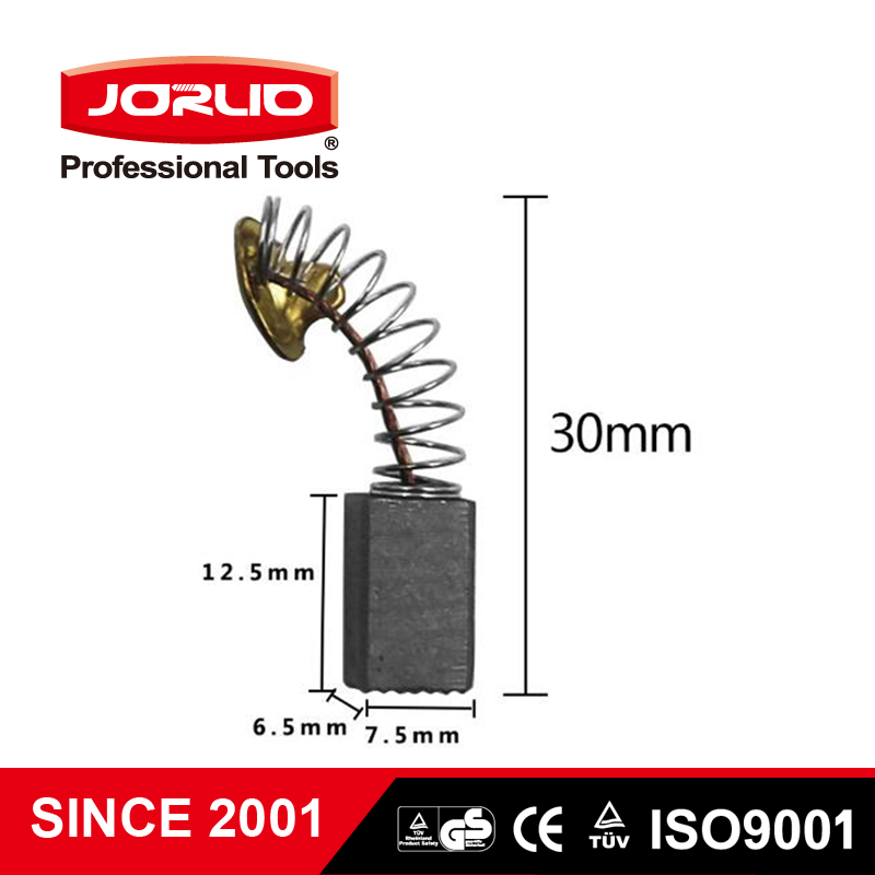 Jorlio 10PCS Power Tool Repair 12.5mm X 6.5mm X 7.5mm Electric Replacement Motor Carbon Brushes For Drill Bit Tools