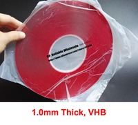 1 0mm Thick 8mm 40mm Wide Choose 33 Meters Clear Foam Two Sides Acrylic Glue Adhesive