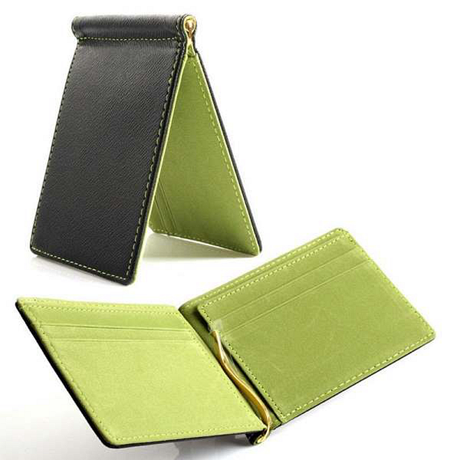 купить Faux Leather Slim Mens Credit Card Wallet Money Clip Contract Color Simple Design Burnished Edges Brand New Men Bifold Wallets недорого