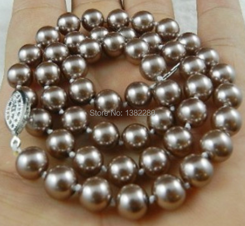 """8 Mm Rond Blanc Akoya Cultured Shell Perle Collier Boucle d/'oreille Bijoux Set 18/"""" AAA"""