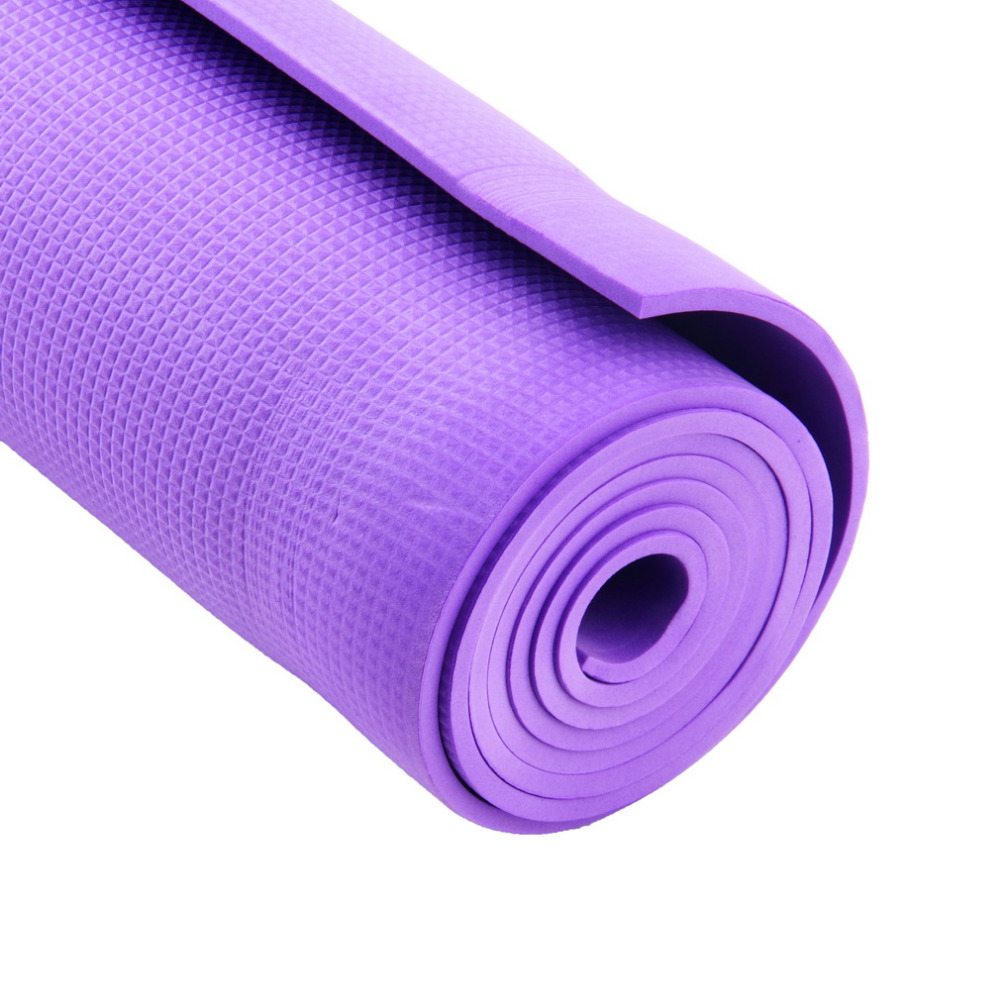 New Arrival Exercise Mat 6mm Thick Non Slip Yoga Mat Exercise Fitness Lose Weight 68x24x0.24inch Yks