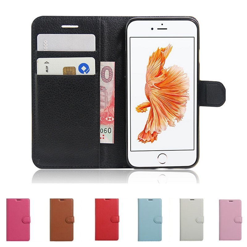 PU Leather Flip Case For Iphone 8 7 6S 6 Plus SE 5S 5 4S 4 Coque Fundas Wallet Cover