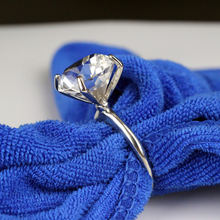 10 шт./лот сверкающий кристалл Алмазный держатель для салфеток вечерние декор для банкетного стола аксессуары