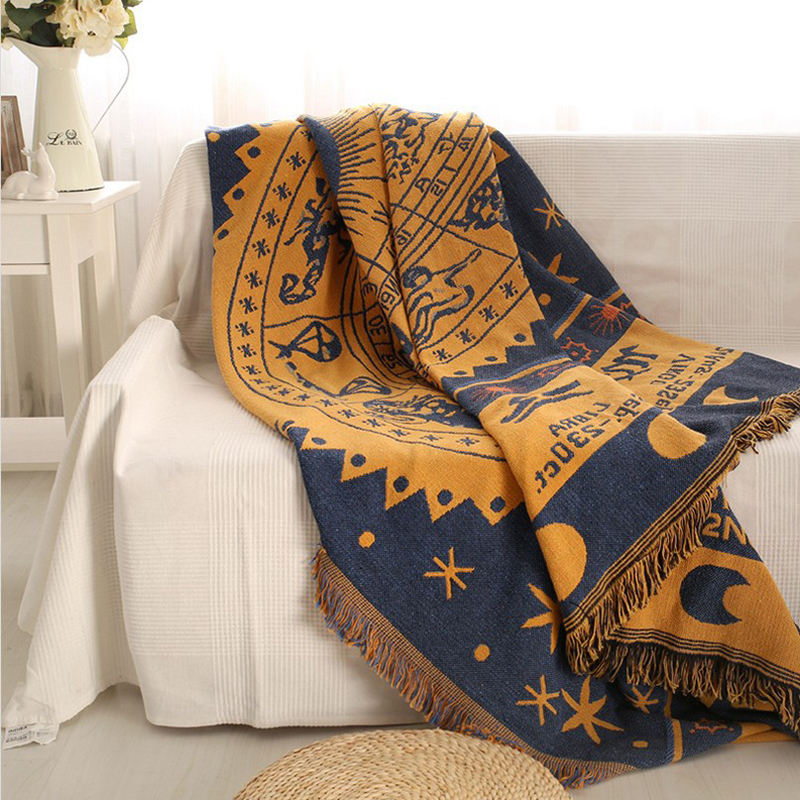 Excellent Us 46 45 5 Off 12 Constellation Sofa Blanket Sofa Towel Full Slip Resistant Fornasetti Sun Printed Style Sofa Set Gremial Blanket Carpet Fabric In Pabps2019 Chair Design Images Pabps2019Com