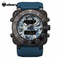INFANTARIA Mens Relógio de Luxo Azul Marinho Militar Esportes Relógio Rosto Quadrado Pulseira de Borracha Relogio masculino Resistente À Água