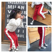 spring autumn toddler kids pants for boys and girls baby cotton ankle-length straight trousers casual children clothes