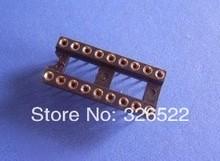 50 Шт./лот 18 Pin 2.54 мм Шаг DIP гнезда для Ис Круглый Pin Бесплатная Доставка