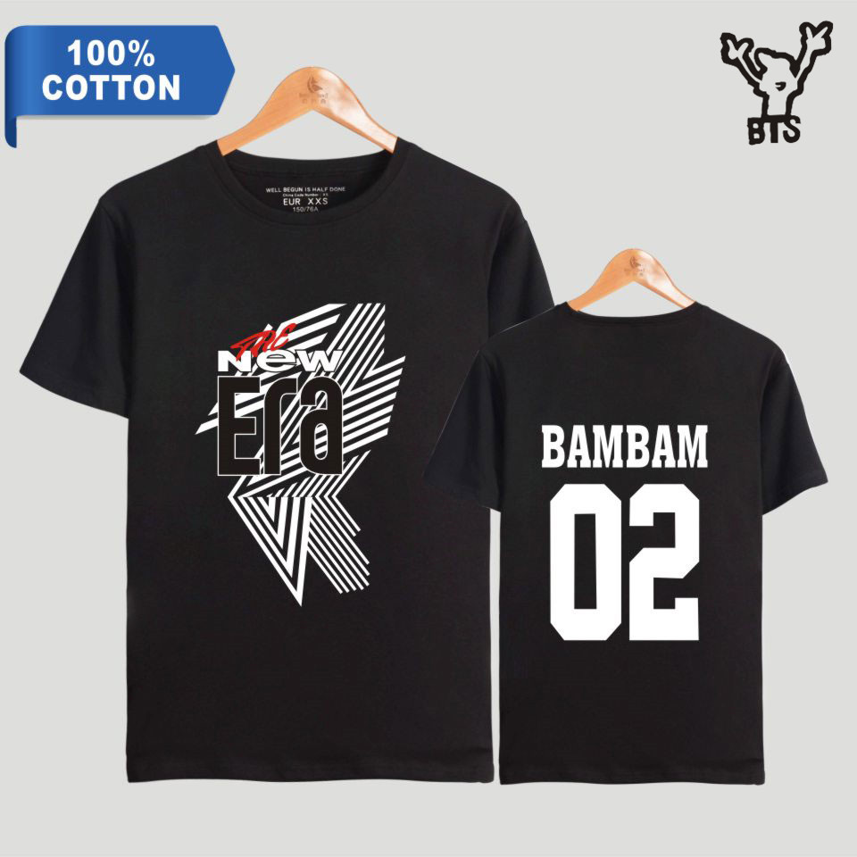 BTS GOT7 FM The New Era Kpop Men 100% Cotton Hot Sale Summer Cool T-shirt Short Hip Pop Popular Fashion TShirt Plus Size A8080