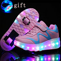 Shoe De Rodinha Children Roller Shoes Size 27-43 Kids Light up Shoes Girls Boys Jazzy Roller Skate Shoes With Wheels Sneakers