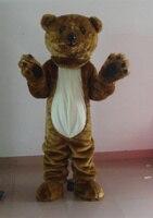 New Arrival Dark Brown Bear Mascot Costume Halloween Fursuit Fancy Dress Free Shipping