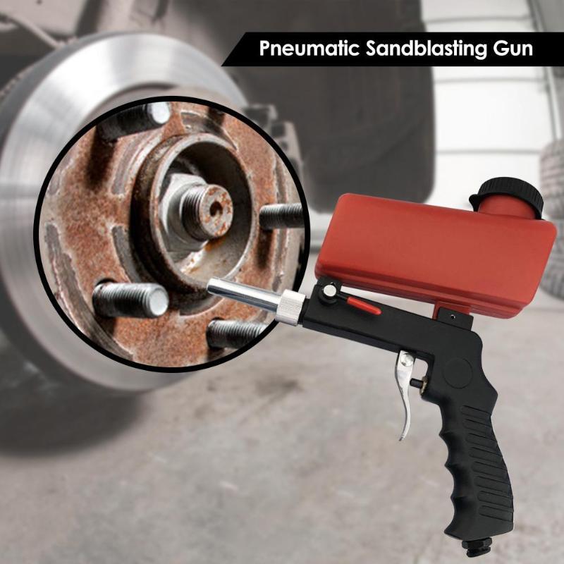 Mini Handheld Portable Spray Gun Pneumatic Sandblasting Gun Blasting Device Sand Blasting Machine Spray Polishing Rust Removal