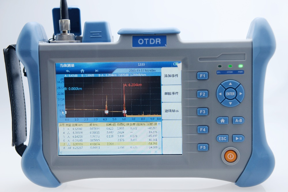 Singlemode 1310/1550nm 30/28dB Built in VFL Optical Time Domain Reflectometer Fiber Optic OTDR 100km
