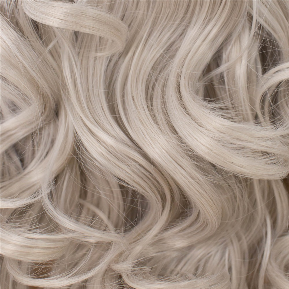 Imstyle Wavy Gray Long Grey Wig Synthetic Lace Front Wigs For Women Heat Resistant Fiber Cosplay