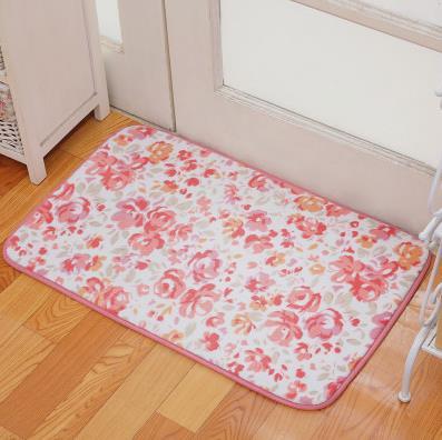 Romantic Floral Room Floor Mats,Sweet Rose Print Carpets For Living ...