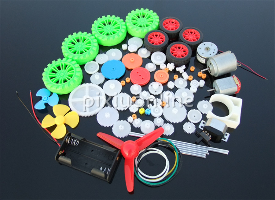 Sale At A Loss K1002b Several Different Plastic Gears And Worms And DC Motors Handmaking Parts DIY Use