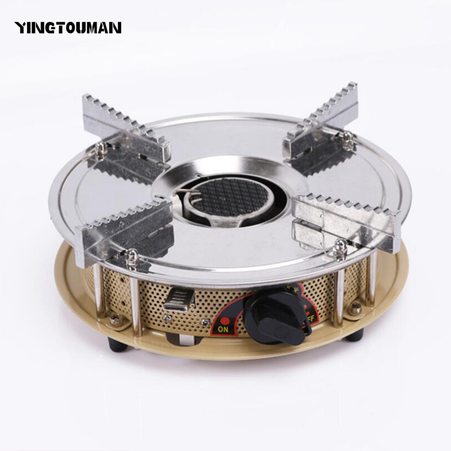 YINGTOUMAN Mini Air Inflation Stove Outdoor Protable Gas Stove Burners Camping Equipment Gas Stoves Camping Stoves Picnic Burner lightweight folding 2 burner portable camping stove propane butane gas outdoor stove camping cooker camping cooking equipment