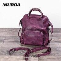 NIUBOA 100 Genuine Leather Bags Personal Luxury Women Cowhide Tote Female Skin Crossbody Shoulder Bags Multi