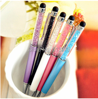 2 in 1 Crystal touch screen capacitive signature pen metal diamond advertising ball pen stationery