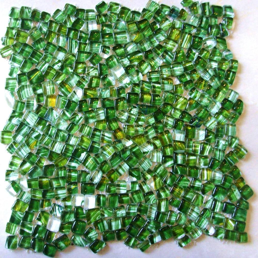 green baroque style glass mosaic tiles irregular ehgm1005d kitchen backsplash bathroom shower wall cover hallway border
