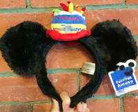 Oryginalny Brithday Ciasto Mickey Mouse Szczęśliwa Rocznica Słodkie Pluszowe Zabawki Cosplay Masquerade Strona Pałąk Szpilka Prezent Urodzinowy